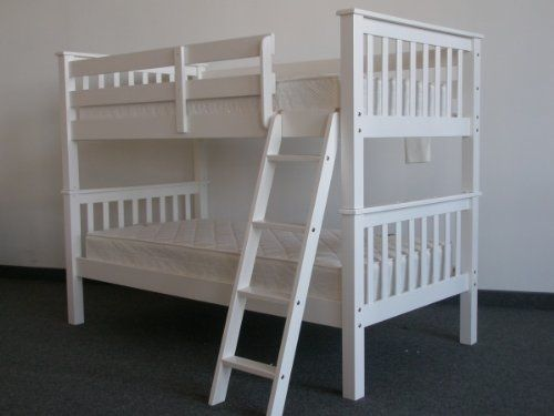 Bedz King Bunk Bed Twin Over Mission Style White