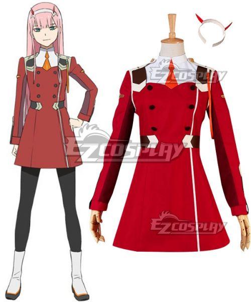 DARLING in the FRANXX CODE:002 ZERO TWO costume Kostüm Cosplay Uniform Neu
