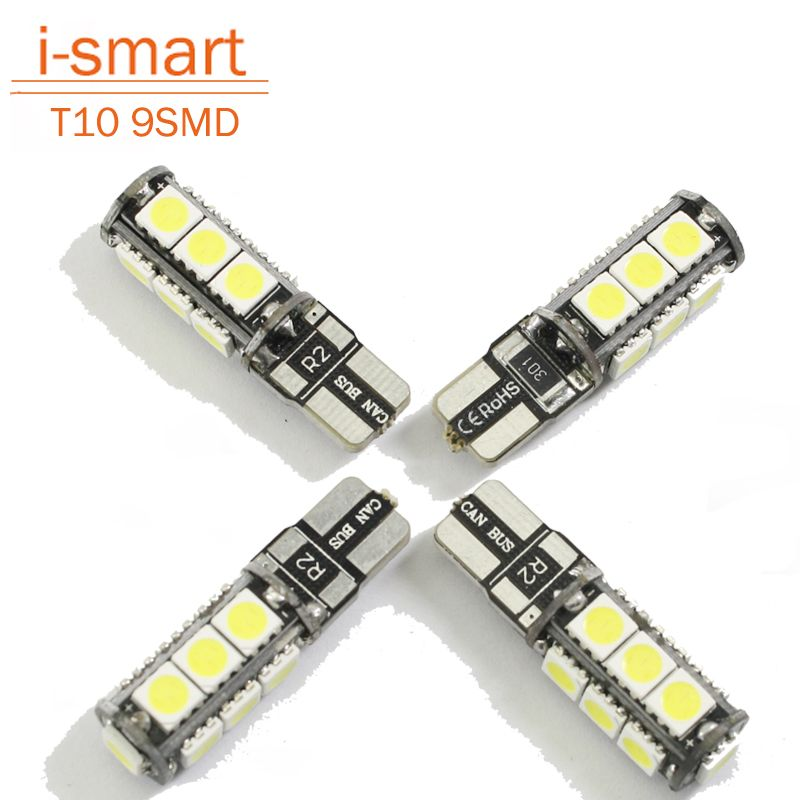 Universele T10 Led Reverse Licht W5w Marker Lampen 9 5050 Smd Automotive Led Lamp 12 V Canbus Xenon Halogeen Auto Dashboard Marqueur Voiture Lamp