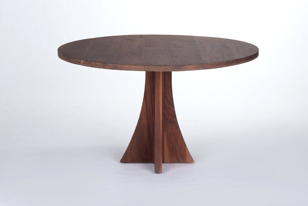 The Elise Round Dining Table Walnut With Images Round Wood