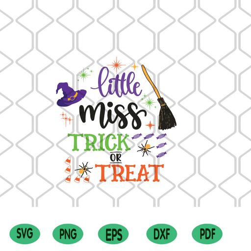 Little Miss Trick Or Treat Svg Halloween Svg Halloween Clipart Hall Hana2020 On Artfire
