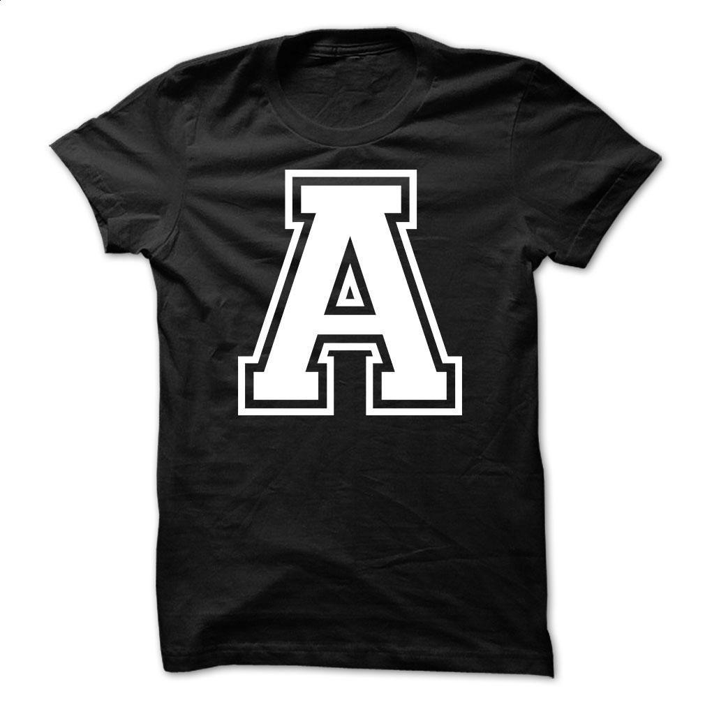 Letter A Tshirt Name Initials Design T Shirt, Hoodie, Sweatshirts ...