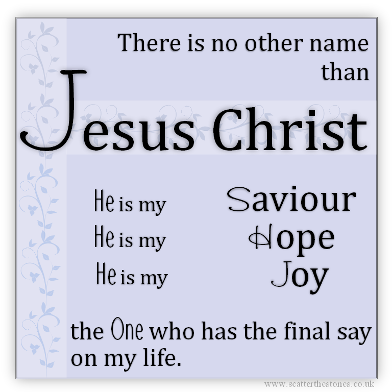 Lyric no other name lyrics hillsong : There is no other name than Jesus   ♕ Lord Jesus Saves ...