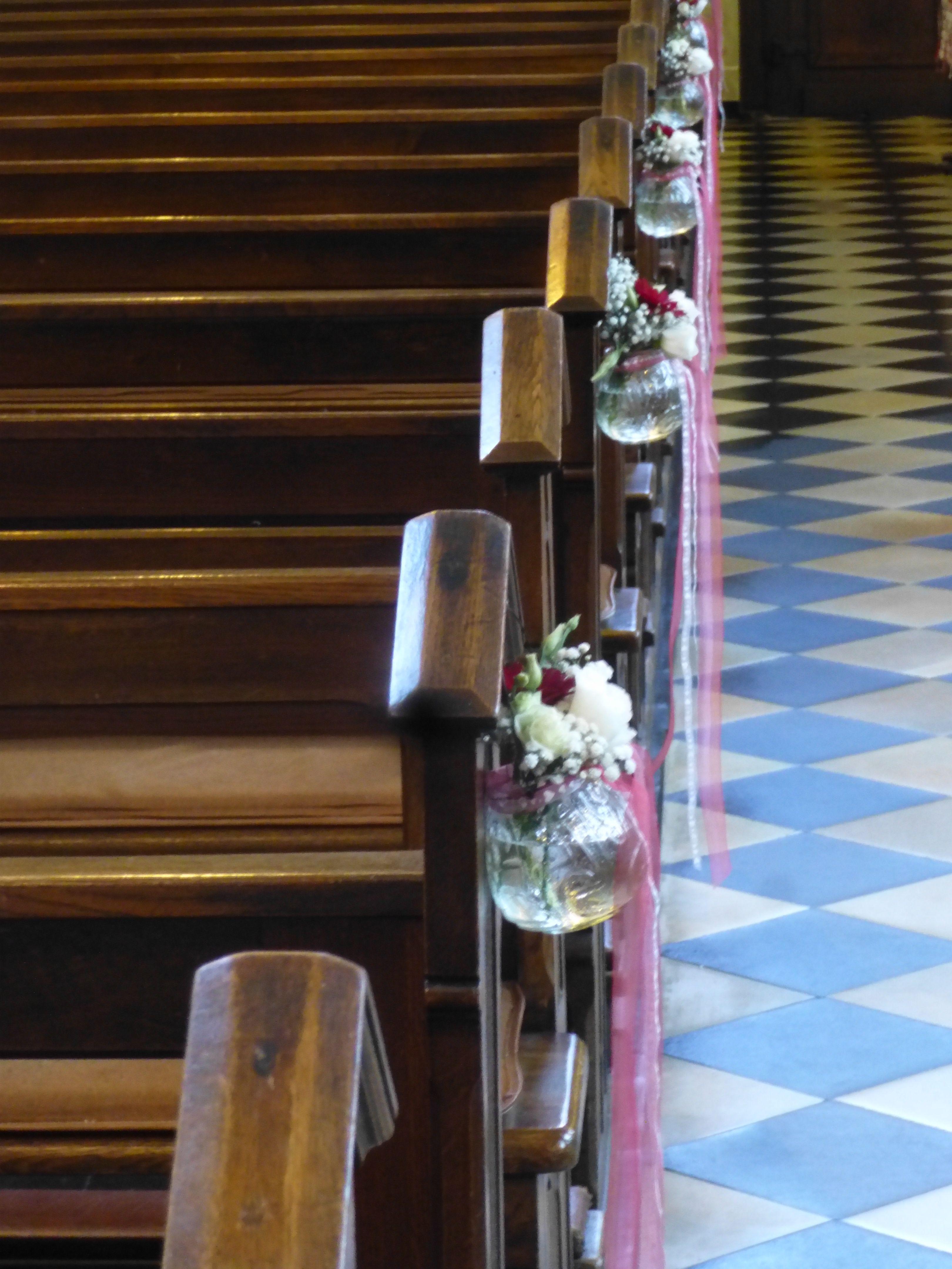 Dekoration Fur Die Kirchenbank Hochzeit Flowerpower Pinterest