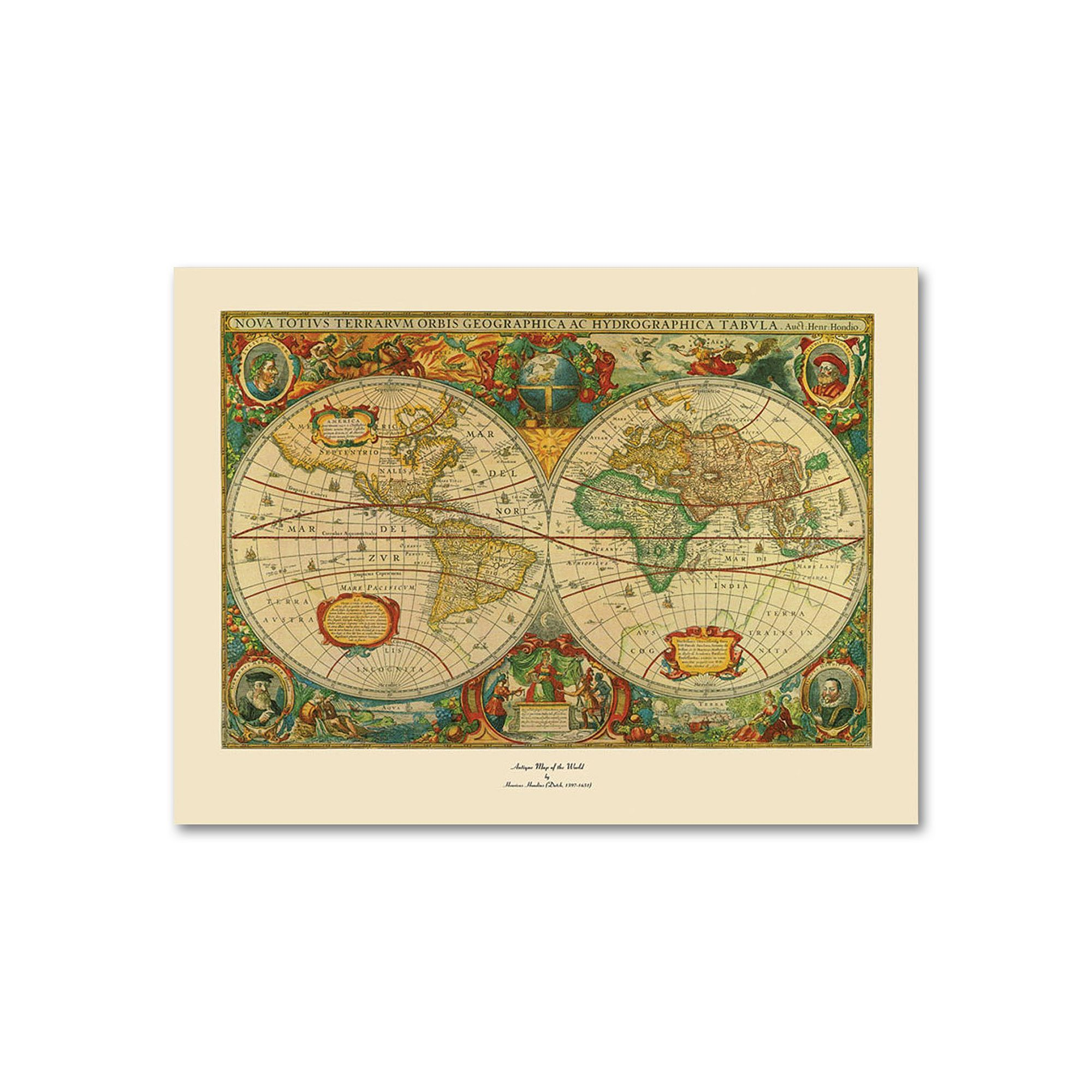 Old World Map Painting Canvas Wall Art | Canvases and Products