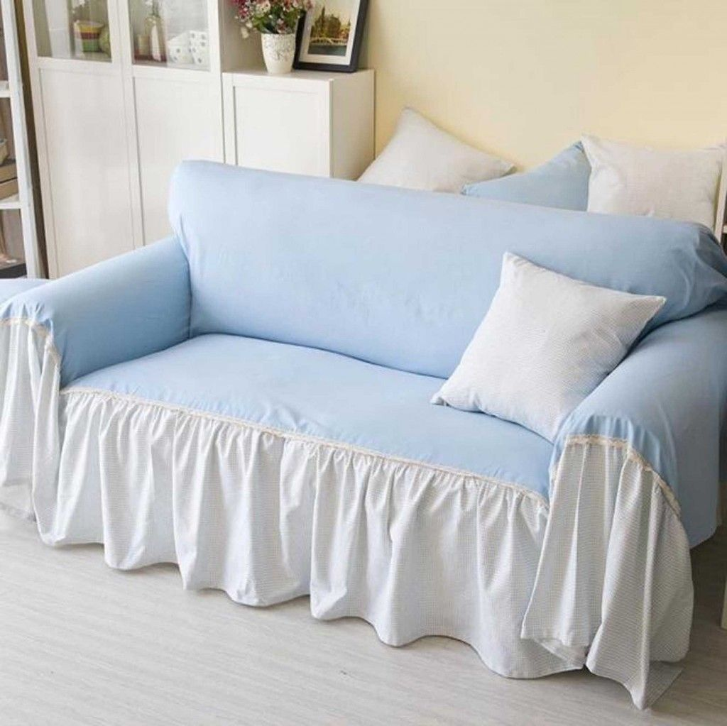 Sofa How To Make A Sofa Slipcover With Shades Blue And White