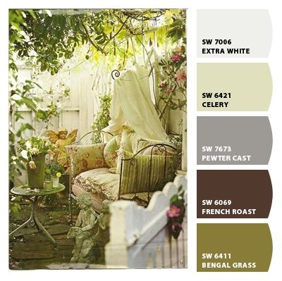 French Country Garden' Paint colors from Chip It! by Sherwin ...
