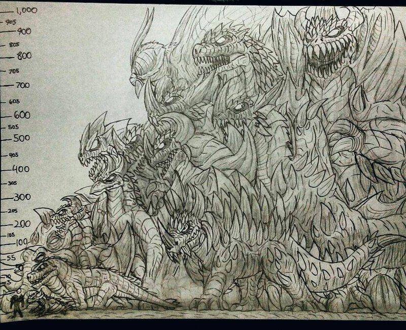 AKS  Kaiju Size Chart by Erickzilla on DeviantArt A Regular