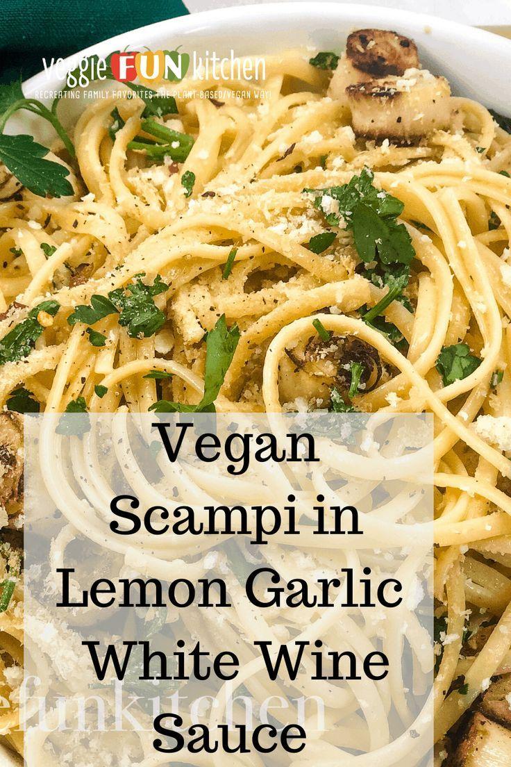 vegan scampi in lemon garlic white wine sauce veggie fun kitchen recipe in 2020 white wine on hebbar s kitchen white sauce pasta id=45428