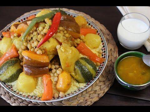 couscous aux légumes - blog cuisine marocaine / orientale ma fleur