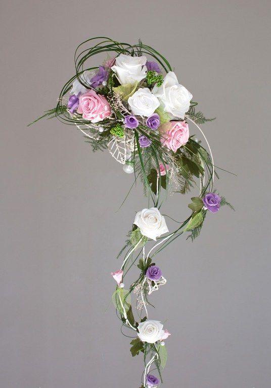 100 bouquets pour sublimer la mari e bouquet de rose et tomber - Bouquet de fleurs artificielles pour mariee ...