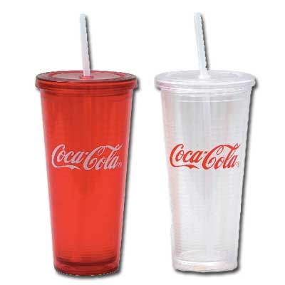 I Love The Double Walled Plastic Tumblers With Straw And Lid Mine Has Coca Cola Symbol On It When First Saw These Thought What A Clever