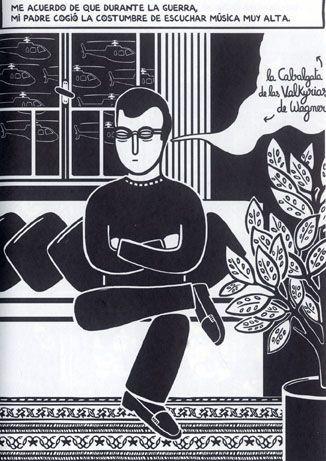 Ilustración de Zeina Abirached para su obra Me acuerdo. Beirut.