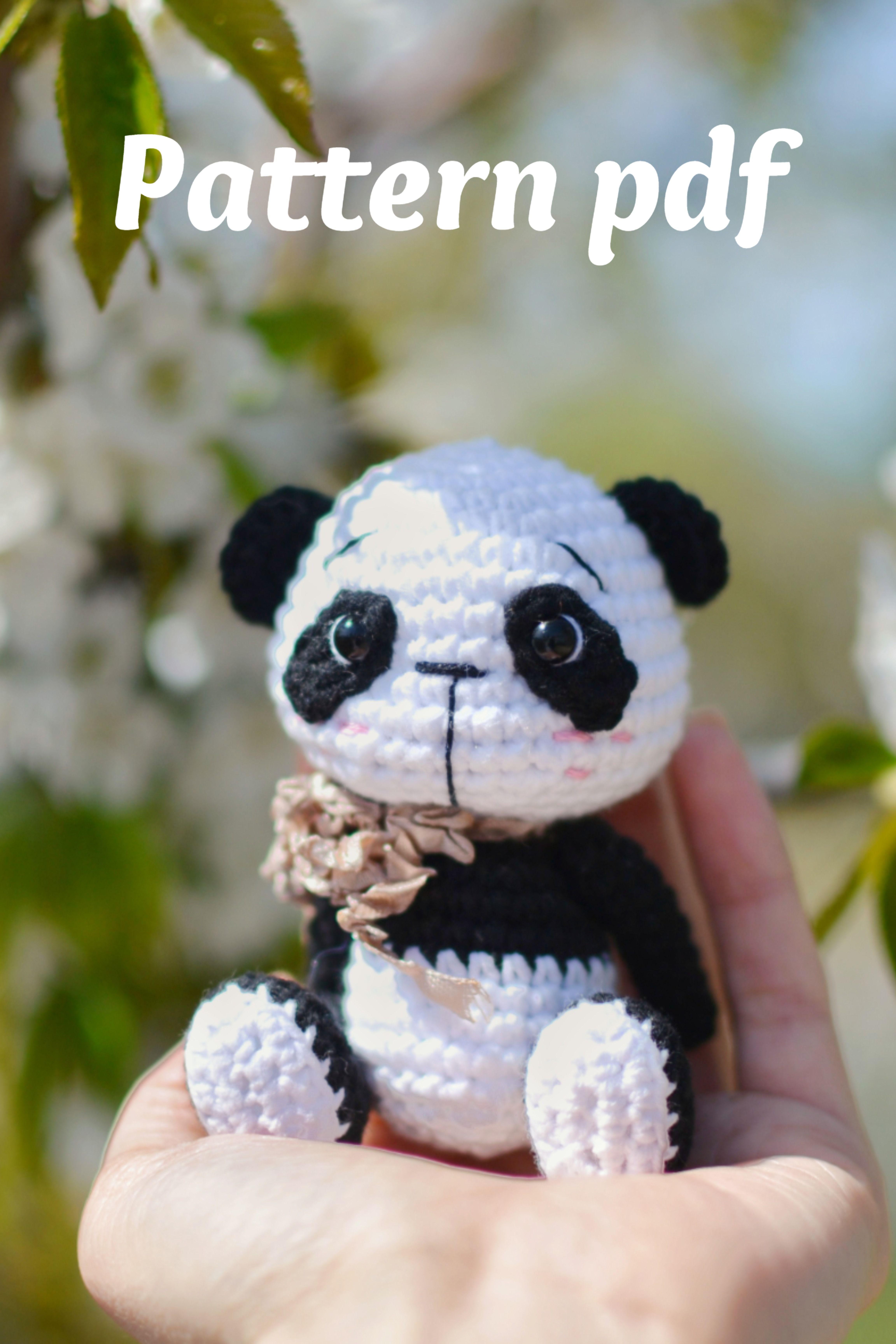 crochet pattern panda, cute panda, amigurumi panda pattern, crochet template PDF amigurumi tutorial panda toy,a gift with your own hands