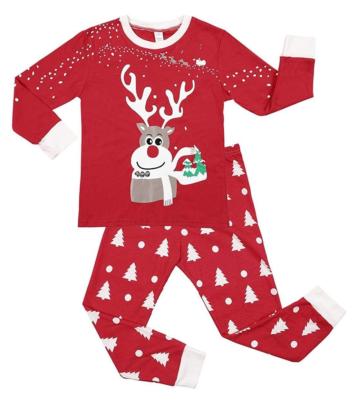 Kids Long Sleeve Pajama Set 100 Cotton Christmas