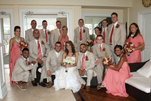 wedding wednesday peach pink coral