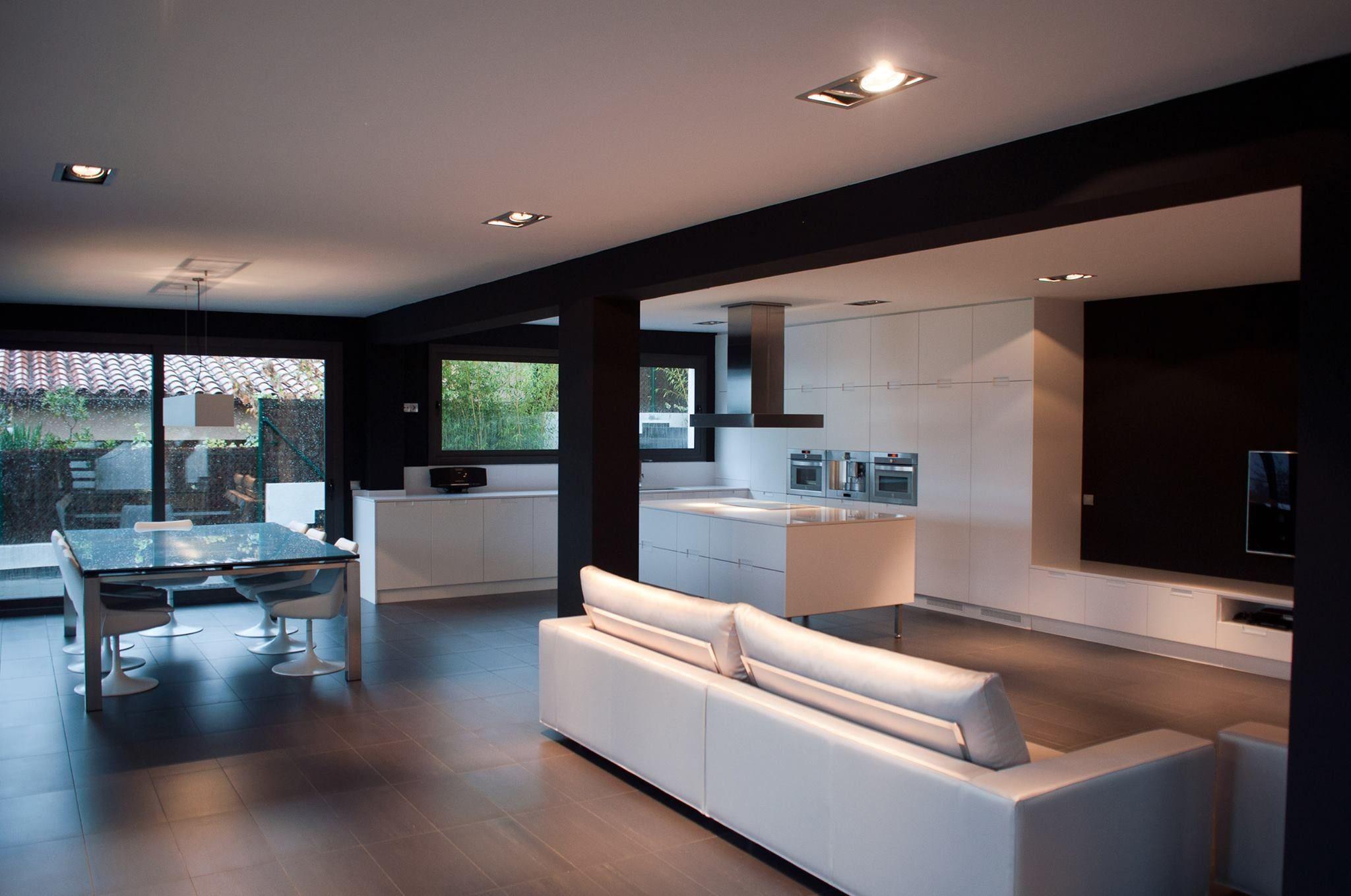 Salón/comedor con cocina abierta. | SALA-COMEDOR | Pinterest ...