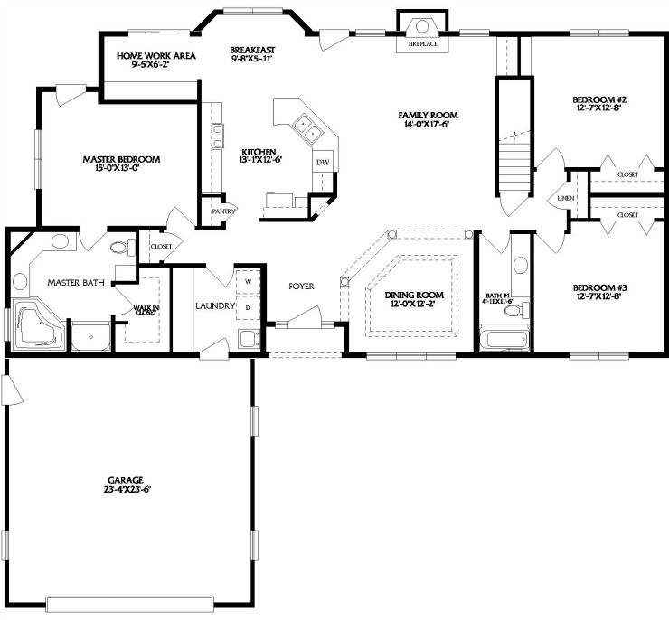 Sandusky One Story Modular Home Floor Plan Floor Plans Ranch Modular Home Floor Plans Ranch Style Floor Plans