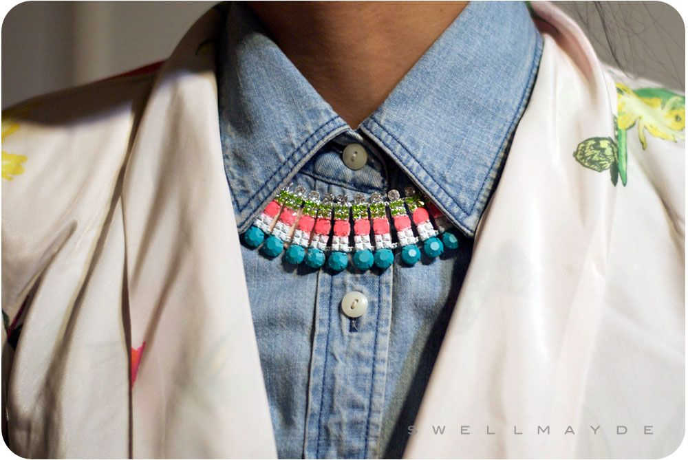 DIY | Painted Rhinestone Necklace