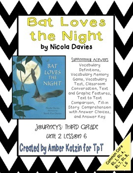 Bat loves the night activities 3rd grade journeys unit 2 lesson 6 bat loves the night activities 3rd grade journeys common core fandeluxe Image collections