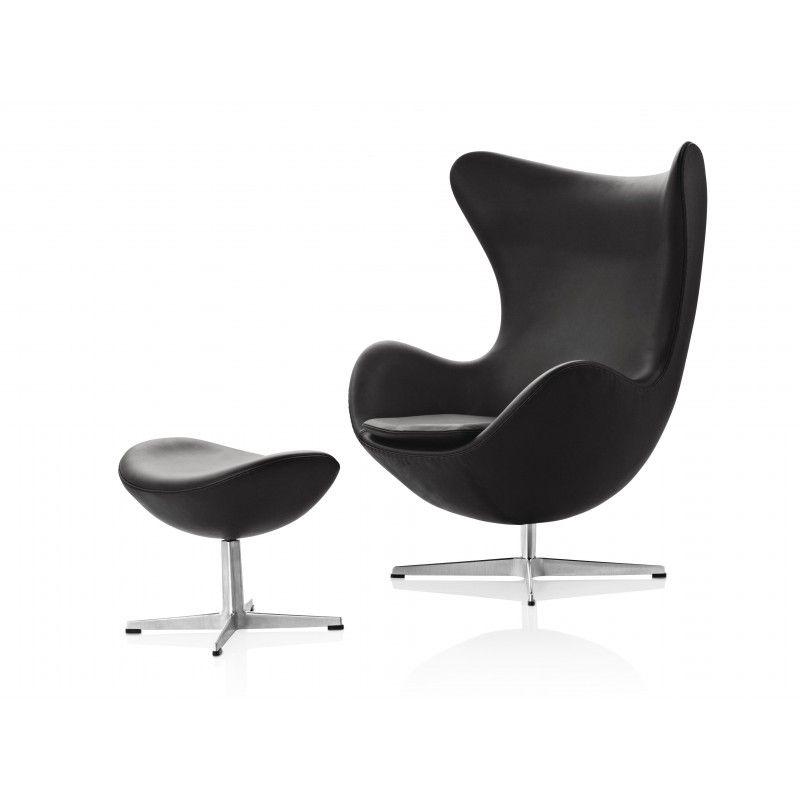 designikonen egg chair von fritz hansen online kaufen. Black Bedroom Furniture Sets. Home Design Ideas