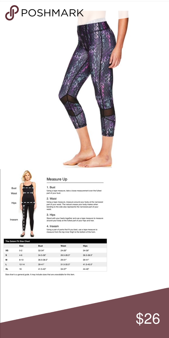 7a7ae00e10 Women's OM Align Yoga Capri Leggings Add inspiration to your yoga workout  with these women's Gaiam