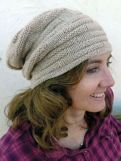 This Slouchy Hat Has A Welted Pattern That Expands And Contracts To