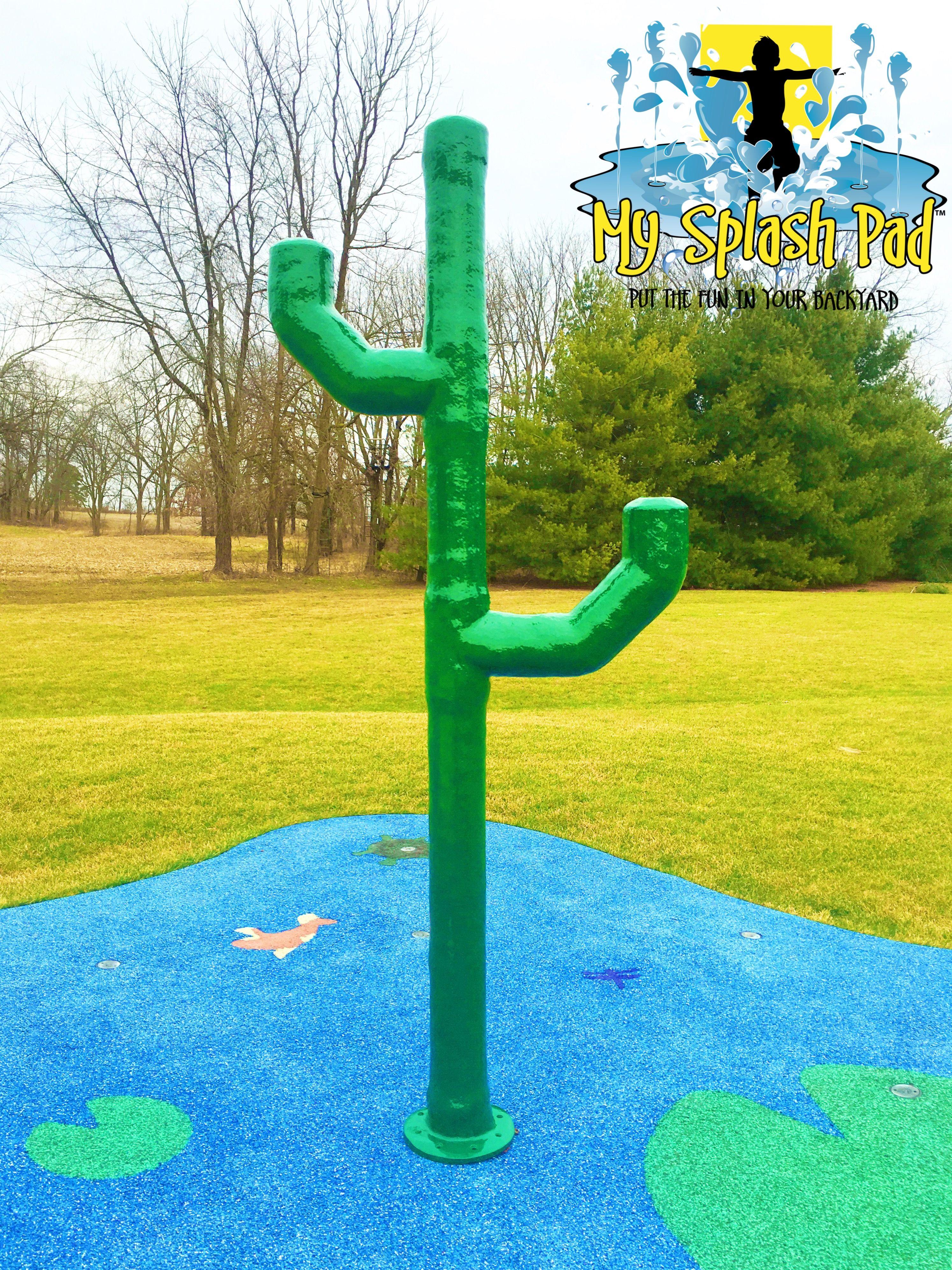 fun cactus for your backyard splash pad or community water park