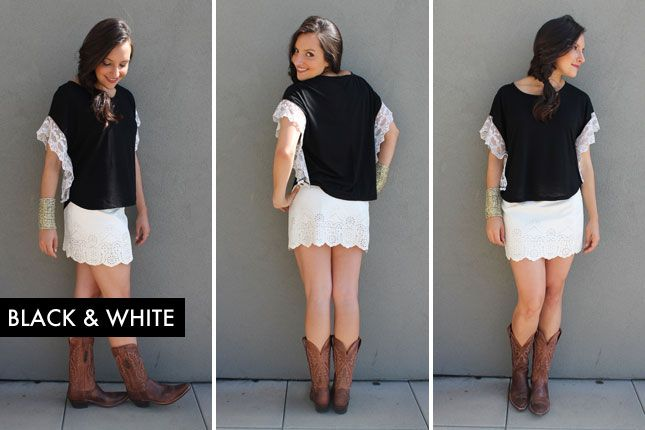 10 Ways to Style Cowboy Boots (+ Giveaway!) via Brit + Co.