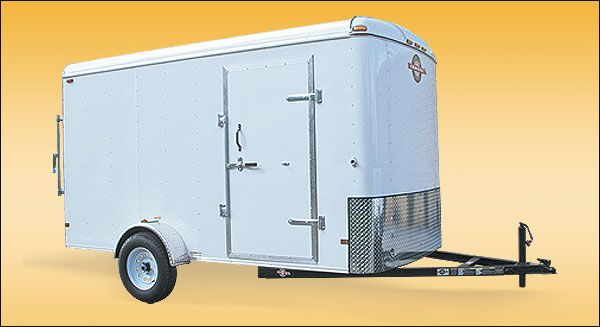 6 X12 2990 Lb Enclosed Trailer Trailers For Sale Work Trailer Equipment Trailers