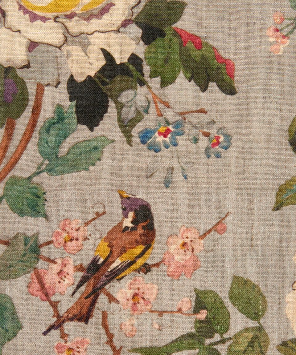 Lady Kristina Natural Linen In Chandelier Fabric Wallpaper