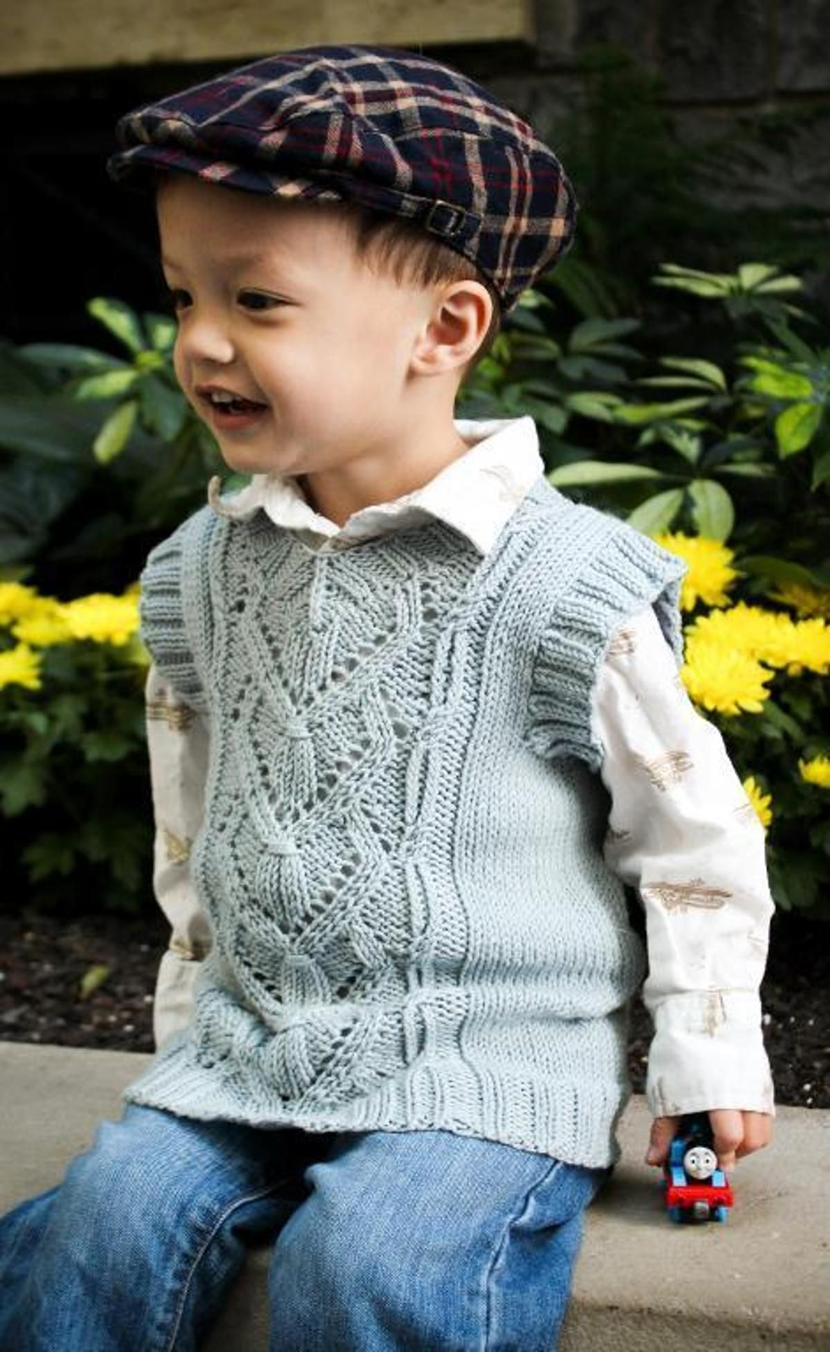Callum Vest | Sweater knitting patterns, Knitting for kids ...