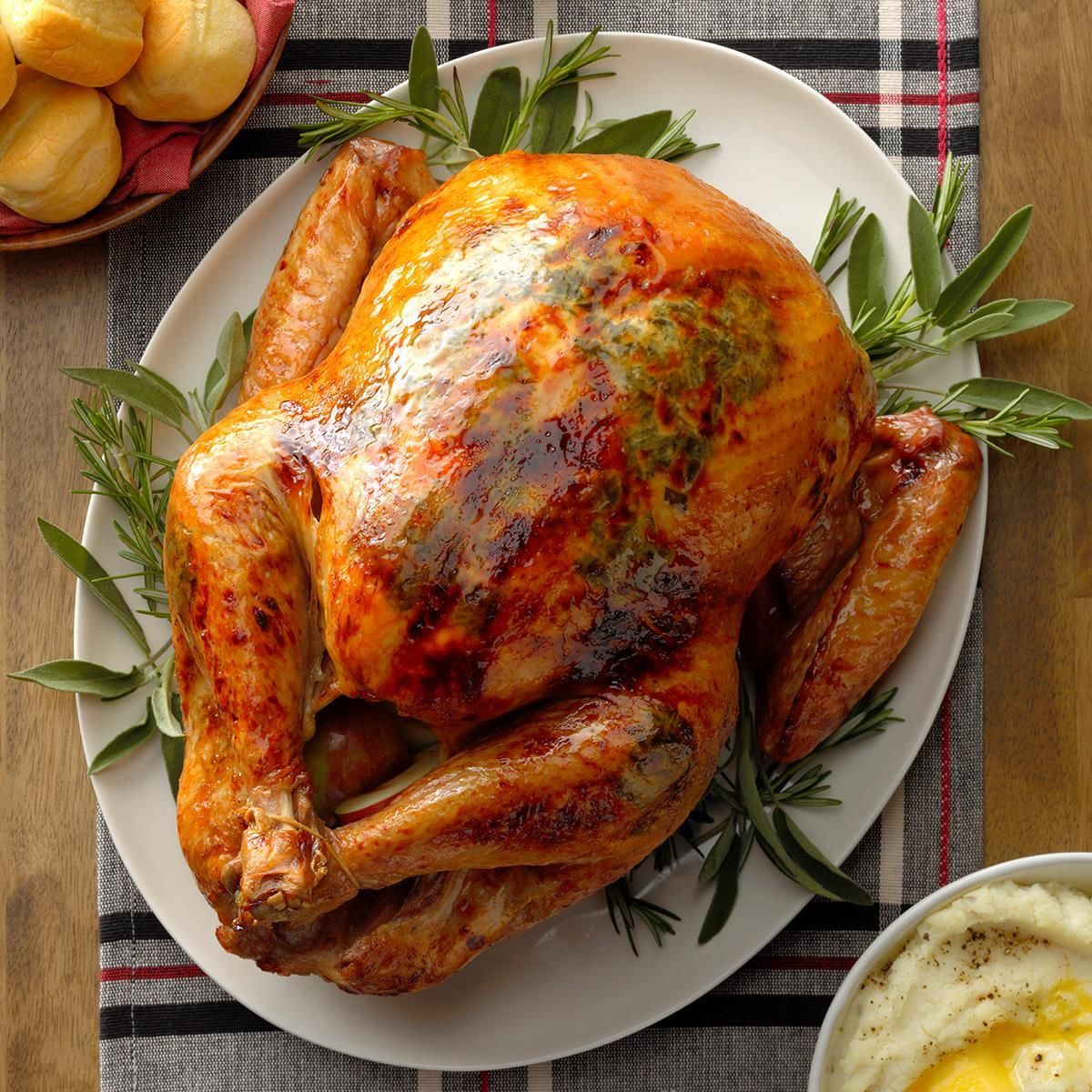 Apple herb roasted turkey recipe with images herb