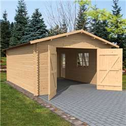 4 2m X 5 7m Garage Double Glazing 44mm Diy Carport Cabin Kits Portable Carport