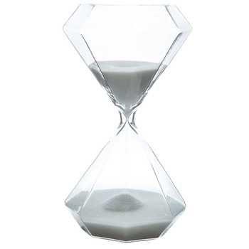 Clear Glass Geometric Shaped Hourglass In Black Idee