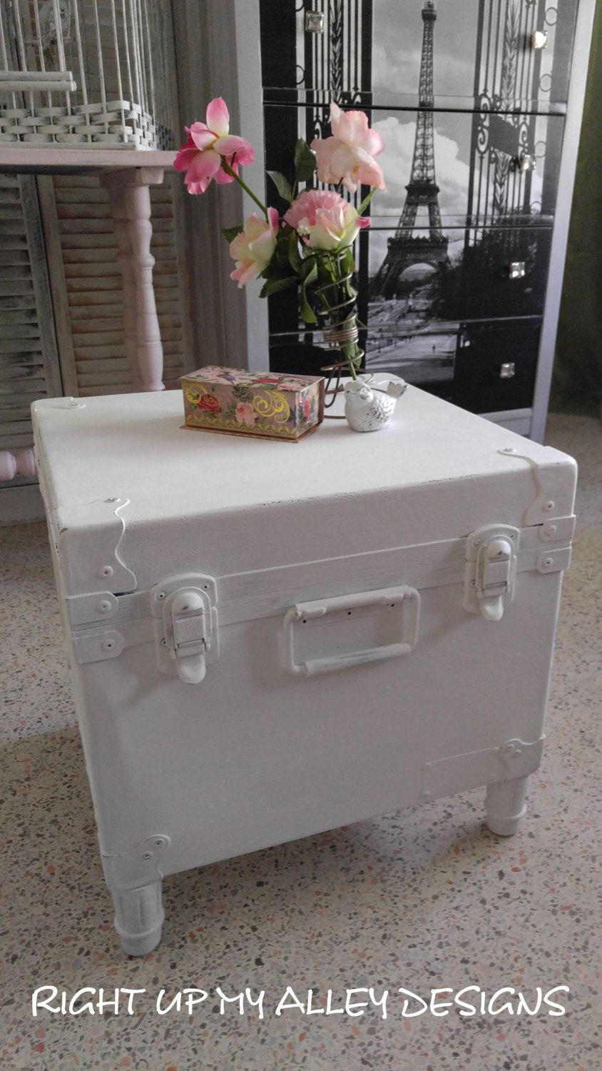 Trunk Coffee Tableshabby Chic Trunk Coffee Tablesmall Trunk Etsy Shabby Chic Coffee Table Coffee Table Trunk Shabby Chic Trunk