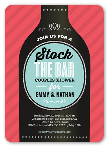 Stock The Bar 5x7 Invitation