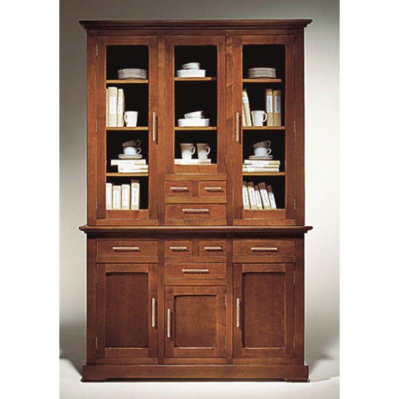 Vitrina con aparador 3 puertas madera - cerezo | Tomy