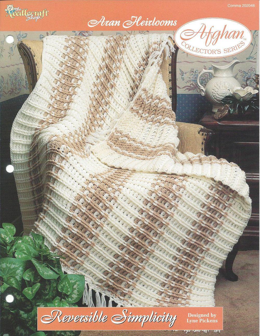 Reversível Simplicidade Crochê afegão Malha itens decorativos Criações -  /   Reversible Simplicity Crochet Afghan Knit Knacks Creations -