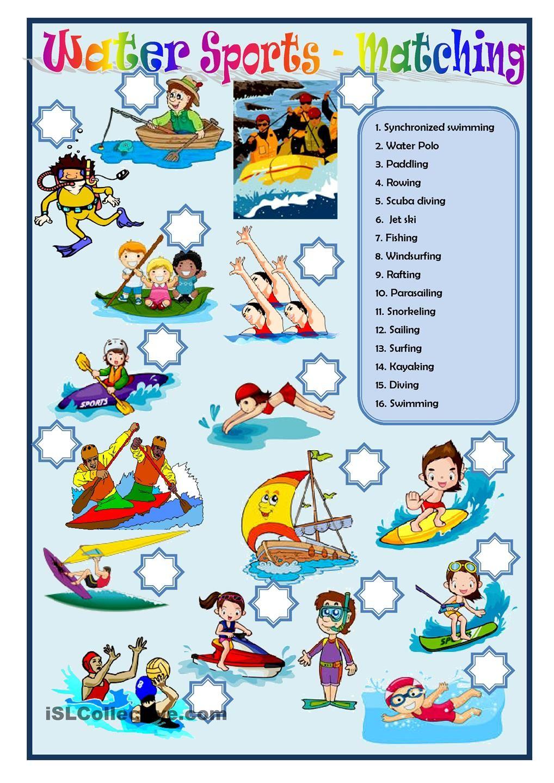 water sports sports and games water sports sports y spelling worksheets. Black Bedroom Furniture Sets. Home Design Ideas