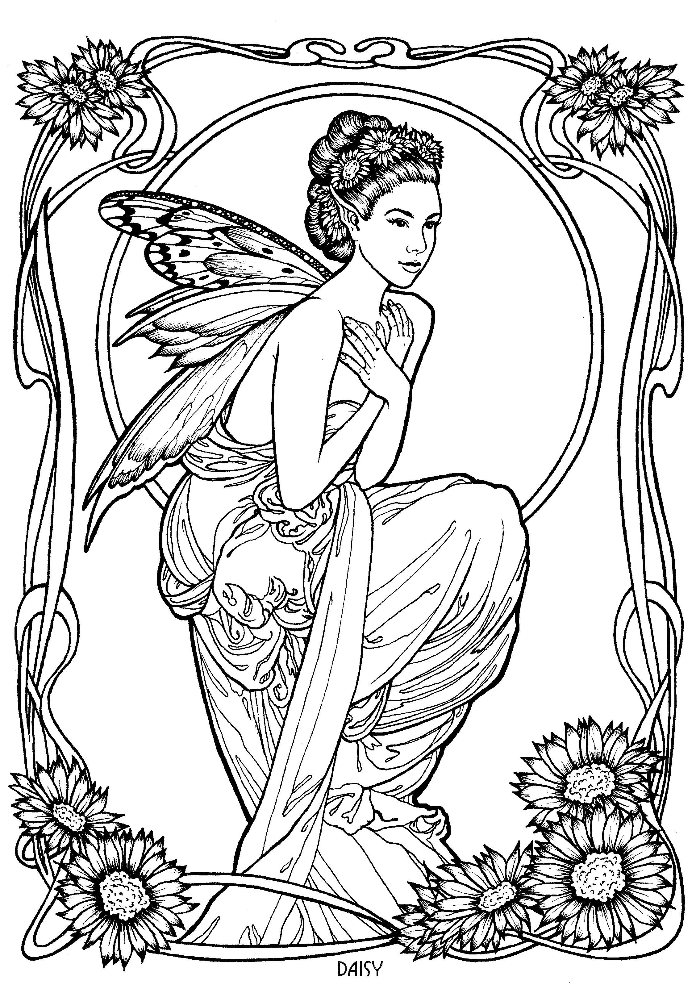 Fairy 16 | Coloring & Drawing | Pinterest | Fairy, Coloring books ...