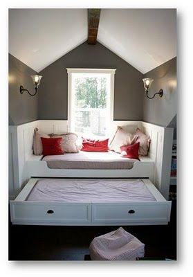 such great ideas for the attic!