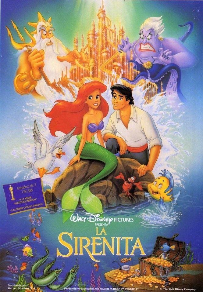 La Sirenita La Sirenita Pelicula Peliculas Infantiles De Disney Peliculas De Disney
