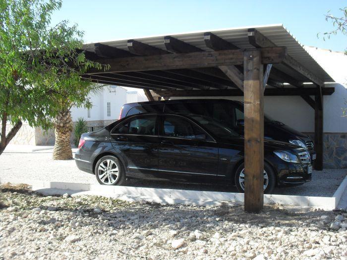 Car Port Photos Double Carport Sax Alicante Spain Double Carport Carport Carport Makeover
