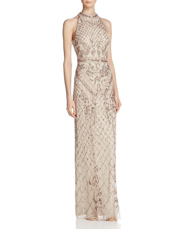 Adrianna Papell Beaded Mock-Neck Gown | If I could get away with it ...