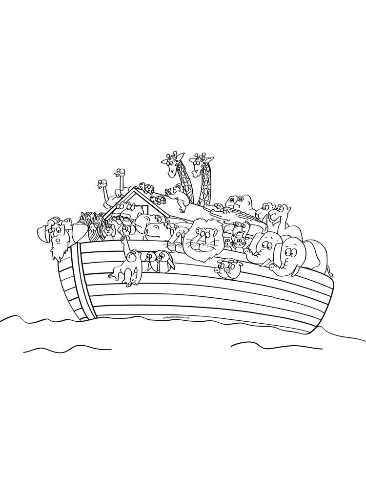 Noahs Ark Coloring Pages Animals Noah S Ark Was A Massive Ship