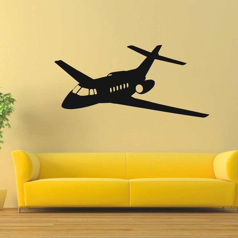 Airplane Private Jet I Love Jet Nose Vinyl Wall Art Decal Sticker ...