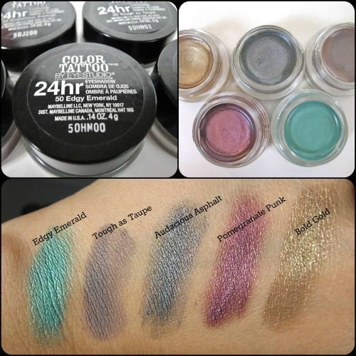 Review Maybelline 24hr Color Tattoo Eyeshadow Color Tattoo Eyeshadow Maybelline Color Tattoo Eyeshadow