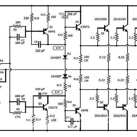 1000w stereo audio amplifier with transistor 2sc5200 2sa19431000w stereo audio amplifier with transistor 2sc5200 2sa1943 circuit design, circuit diagram, dc circuit