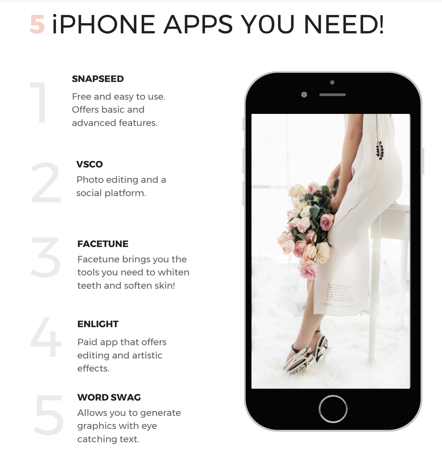 This FREE photo guide is all about the 5 iPhone Apps you